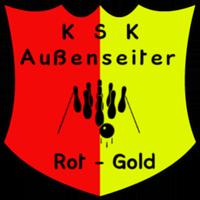 Logo KSK Außenseiter / Rot-Gold